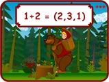 Игра Маша учиться считать