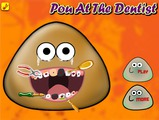 Играть Pou at the Dentist