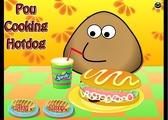 Играть Pou Cooking Hotdog