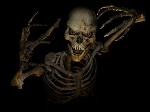 скелет во тьме