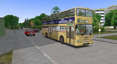 Автобус развозит людей