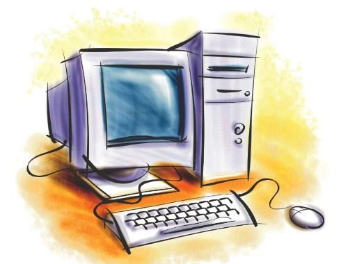рисованный компьютер