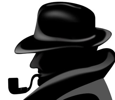 детектив с трубкой силуэт