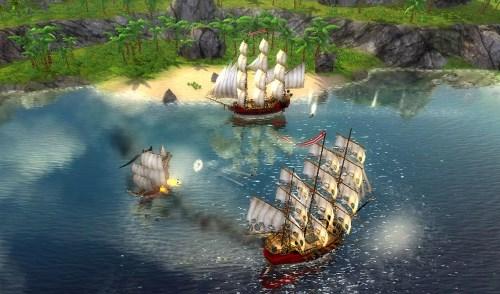 бой пиратов в гавани