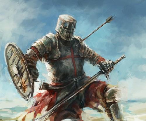 рыцарь пораженный стрелой