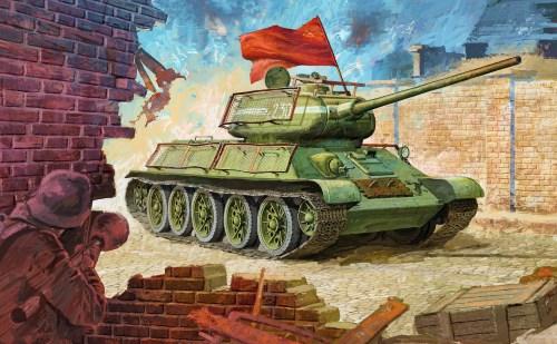 танк с флагом рисунок