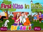 First Kiss In Park