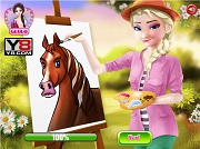 Игра Elsa Drawing Teacher