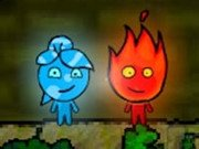 Играть Fireboy And Watergirl 1 Forest Temple