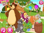 Играть Mary and the bear summer fun