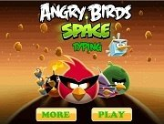 Игра Angry Birds Space Typing