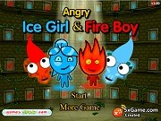 Игра Angry Fireboy And Watergirl