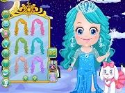 Играть Baby Hazel ice princess dressup