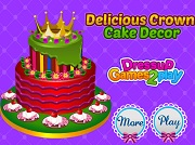 Играть Delicious Crown Cake Decor