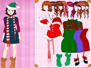 Colorful Christmas dressup