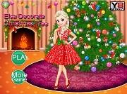 Игра Elsa Decorate Christmas Tree