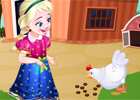 Играть Frozen Anna Poultry Care