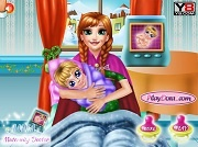 Игра Frozen Anna Maternity Doctor