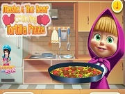 Играть Masha and the bear Cooking Tortilla Pizza