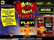 Игра Monkey Go Happy Hearts
