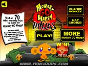 Играть Monkey Go Happy - Ninjas