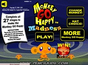 Играть Monkey Go Happy - Madness