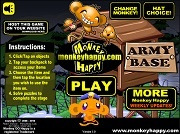 Играть Monkey Happy Army Base
