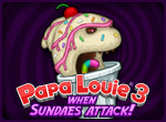 Игра Papa Louie 3: When Sundae's Attack!