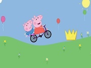 Peppa Pig on bike