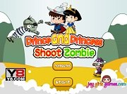 Игра Prince And Princess Shoot Zombie