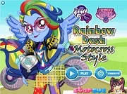 Rainbow Dash Motocross Style