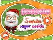 Santa Cooking Santa Sugar Cookie