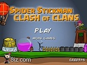 Играть Spider Stickman Clash of Clans