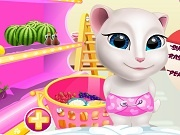 Talking Angela. Cooking session