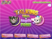 Talking Tom And Angela Pong