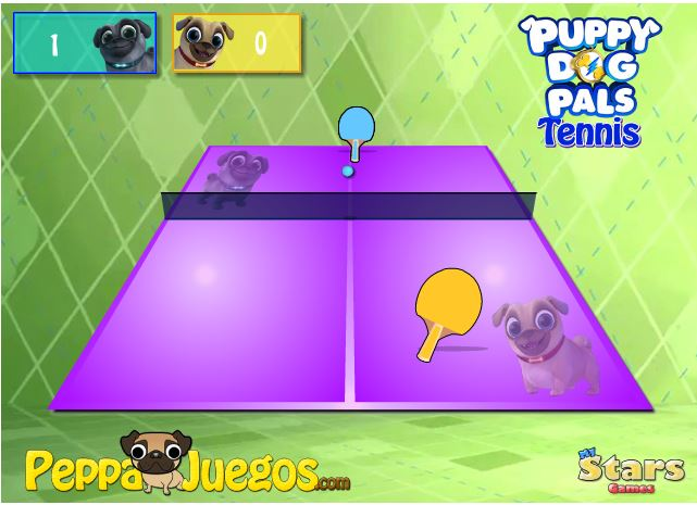 Играть Puppy Dog Pals Tennis