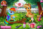Me Little Pony-Veggie garden