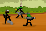 Игра Stickman Army Team Battle
