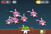 Игра Rabbit Zombie Defense