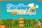 Smiley hamburger:Food fight