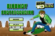 Ben 10 highway skateboardind