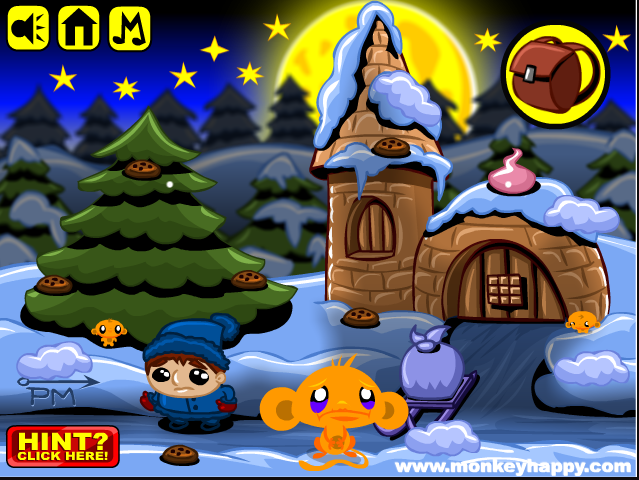 Играть Monkey GO Happy Xmas Mini Game