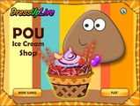 Игра Pou Ice Cream Shop
