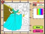 Играть Disney Princess Cinderella Coloring