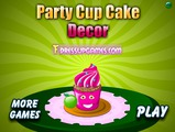 Party Cup cake decor