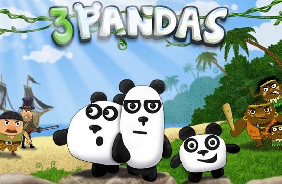 3 панды главный экран