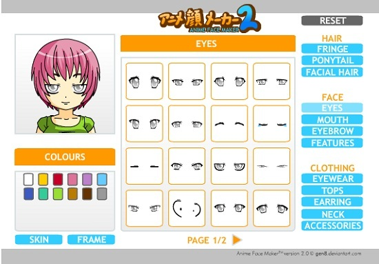 аниме face maker