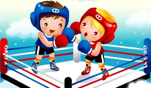 рисованный бокс на ринге