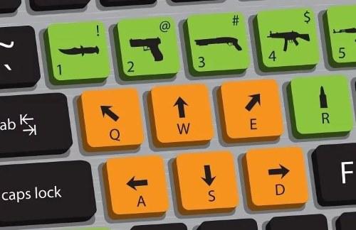 управление стрелялками на клавиатуре