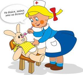 стоматолог лечит зайку